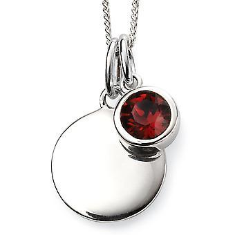 Anfänge 925 Sterling Silber vergoldet Kristall von Swarovski® Februar Birthstone Halskette 41-46cm