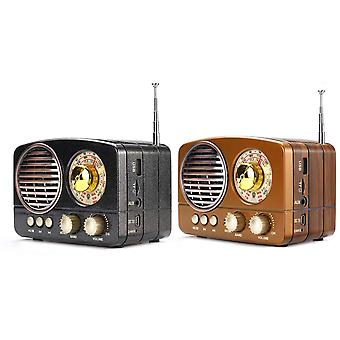 Draagbare Retro Radio Handheld Receiver Am Fm Sw + bluetooth Speaker Phone Music