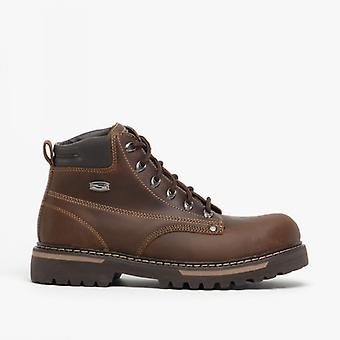 Skechers Cool Cat Bully Ii Mens Leather Boots Brown