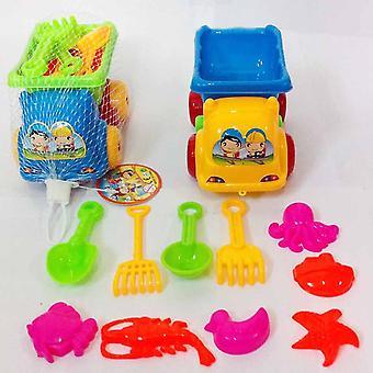 11pcs Water Baby's Tweezers Bucket Shovel Beach Summer Play Toy