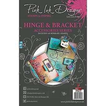 Pink Ink Designs Clear Stamp Hinge & Bracket A5