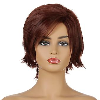 Brand Mall Wigs, Lace Wigs, Realistic Fluffy Short Hair Straight Hair Wigs