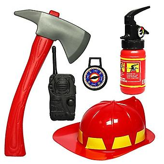 Fireman Cosplay Gameshat Axe Crowbar Fire Extinguisher Set Educational Toy
