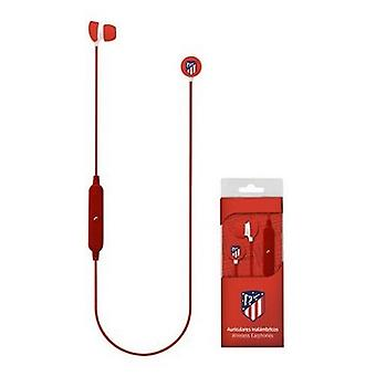 Atletico De Madrid Sports Bluetooth Headphones with Microphone Red