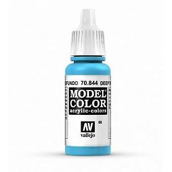 Vallejo Model Color 17ml Acrylic Paint - 844 Deep Sky Blue