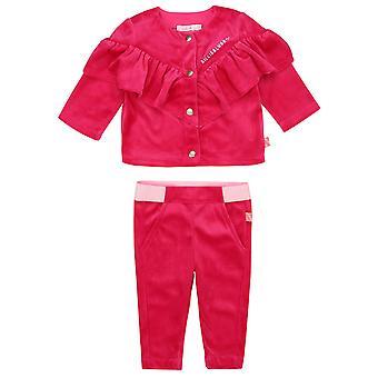 Billieblush baby meisjes roze velours trainingspak u08079/49n