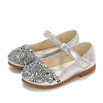 Janes Shoes With Rhinestone, Princess Sweet Soft Kids Glitter Party Shoes