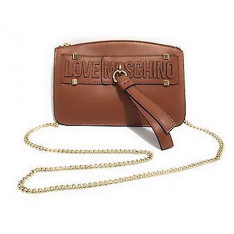 Damen Tasche Liebe Moschino Hand / Schultergurt braun Leder Bs21mo110 Jc4275