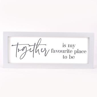 Widdop & Co. Moments Wall Wall Plaque 40cm - Together