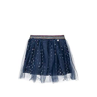 Alouette Girls' Skirt With Tull And Heart Pattern