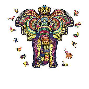 3D لعبة لغز خشبي الأطفال التعليمية بانوراما هدية شكل الفيل pt2