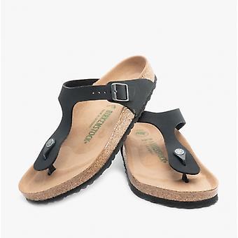Birkenstock Gizeh 1020013 (reg) Ladies Birko-flor Nubuck Toe Post Sandals Black