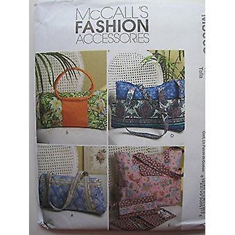 McCalls نمط الخياطة 5066 أربعة حقائب اليد اكسسوارات الأزياء