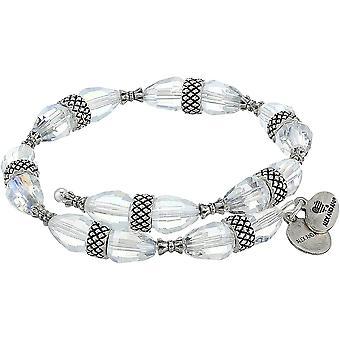 Alex and Ani Aero Divinity Chunky Beaded Wrap Bracelet Rafaelian Silver