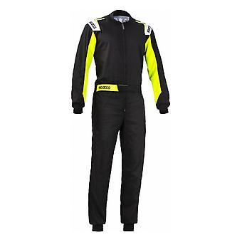 קרטינג חליפת ספרקו טירון צהוב שחור (גודל S)
