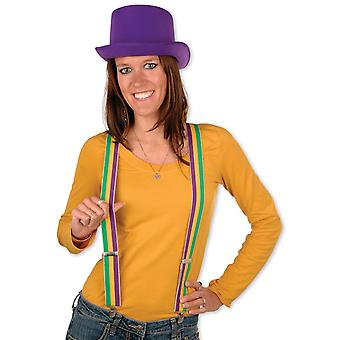 Mardi Gras Suspenders (Pack Of 12)