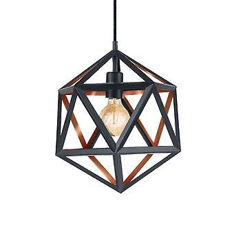Eglo Embleton Black & Copper Geometric Pendant