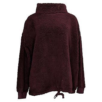 Koolaburra By UGG Women's Sweater Plus Cozy Sherpa Funnel Purple A386505