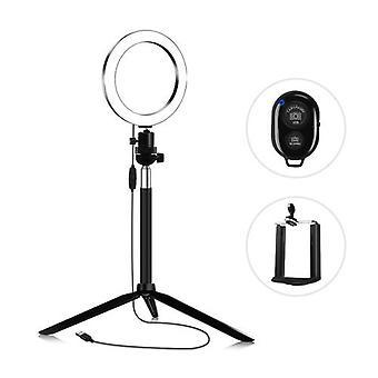 14.5cm 3200K-5600K Bi-color Dimmable Beauty Light Set Ring Video Light 5W