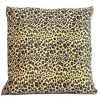 cushion Carola 40 x 40 x 15 cm textile brown/yellow