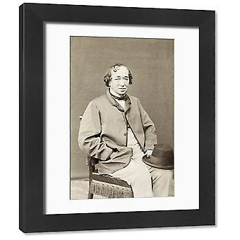 BENJAMIN DISRAELI (1804-1881). 1st Earl of Beaconsfield. English statesman and. Framed Photo..