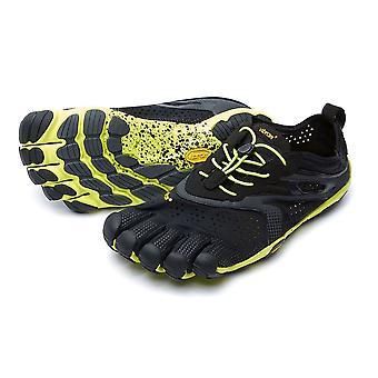 Vibram V-Run Mens Ultimate Lightweight Five Fingers Barefoot Trainers Shoes - Black