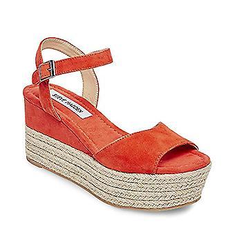 Steve Madden Womens Kianna NuBuck Open Toe Casual Ankle Strap Sandals