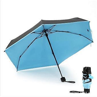 Ceative Mini Pocket Umbrella Clear Men Umbrella(Blue)