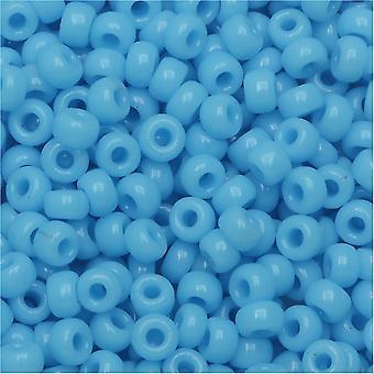 Miyuki Runde Samenperlen, 8/0, 22 Gramm Tube, #9413 Undurchsichtiges Türkisblau