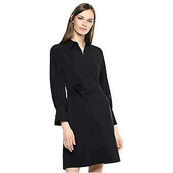 Brand - Lark & Ro Women's Long Sleeve Tie Waist Stretch Woven Shirt Dress