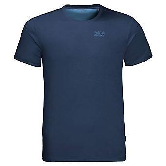 Jack Wolfskin Sky Range, Men's T-Shirt, Dark Indigo, Size 3