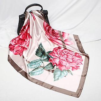 Fashion Scarves, Print Silk Satin Head Scarf
