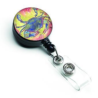 Caroline'S Treasures Crab Retractable Badge Reel, Multicolor (8343Br)