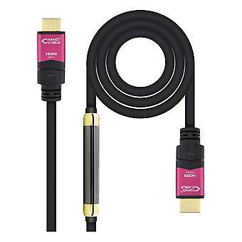 HDMI كابل نانوكابل 10.15.3725 4K HDR 25 م أسود