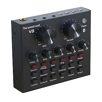 Console de placa de som mini mixer de áudio ao vivo, gravação do estúdio mic