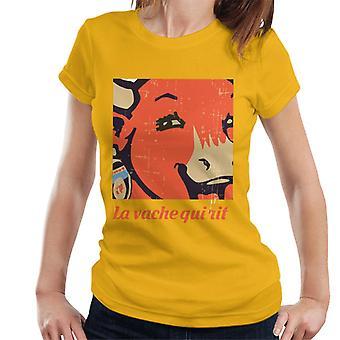 Den grinende ko La Vache Qui Rit close up kvinders T-shirt
