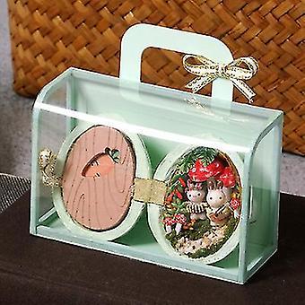 Mini Handmade Hut Model Prezent na dziewki dla dzieci (Zielony)