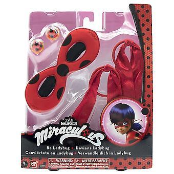 Miraculous Ladybug Become Your Own Ladybug Mask, Earrings, Hair Bands