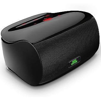 Alto-falante bluetooth de toque sem fio portátil com subwoofer poderoso para melhorar o baixo rico / microfone embutido (Preto)