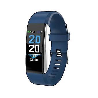 الساعات الذكية 0.96 بوصة تعمل باللمس سوار الذكية الرياضة مشاهدة حركة دعم للماء تتبع معلومات مراقبة معدل ضربات القلب دفع الأزرق