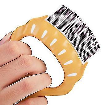 Pet Comb To Remove Floating Hair,Pet fair Elastic nylon brush(Purple)