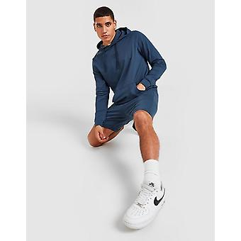 New STATUS Men's Jersey Hoodie/Shorts Lounge Set from JD Outlet Blue