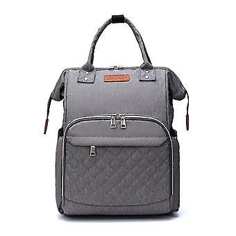 Oxford Cloth Large Capacity Baby Backpack(Grey)