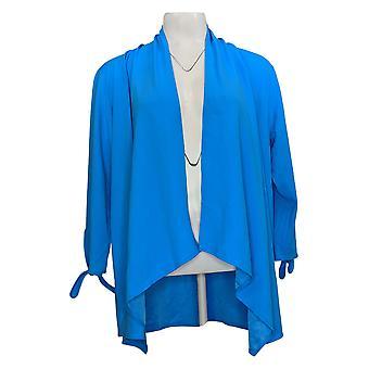 إيمان سيتي شيك المرأة التعادل الأكمام سترة الأزرق 689891