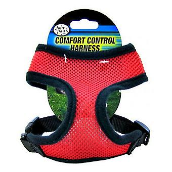 """Four Paws Comfort Control Harness - Red - Small - For Dogs 5-7 lbs (14""""-16"""" Chest & 8""""-10"""" Neck)"""