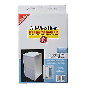 """Perfect Pet All Weather Wall Installation Kit - Extra Large (10.5"""" x 15"""" Flap Size)"""