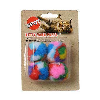 Spot Spotnips Garn Puffballs Cat Leksaker - 4 Pack
