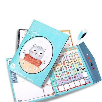 Wooden  Magnetic Puzzle Book Board Game Cognitive Memory List Toy Gift|Puzzles