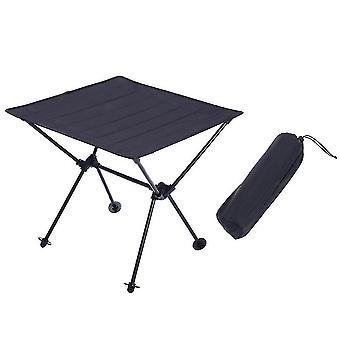 Outdoor tables homemiyn oxford cloth aluminum alloy folding table outdoor portable picnic table 49*49*46cm black
