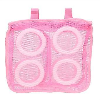 Konepesu pyykinpesu verkko pussit kengät (Vaaleanpunainen)